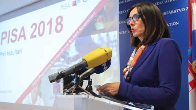 Ministrica Divjak predstavila rezultate PISA testova - Hrvatski đaci ispod prosjeka