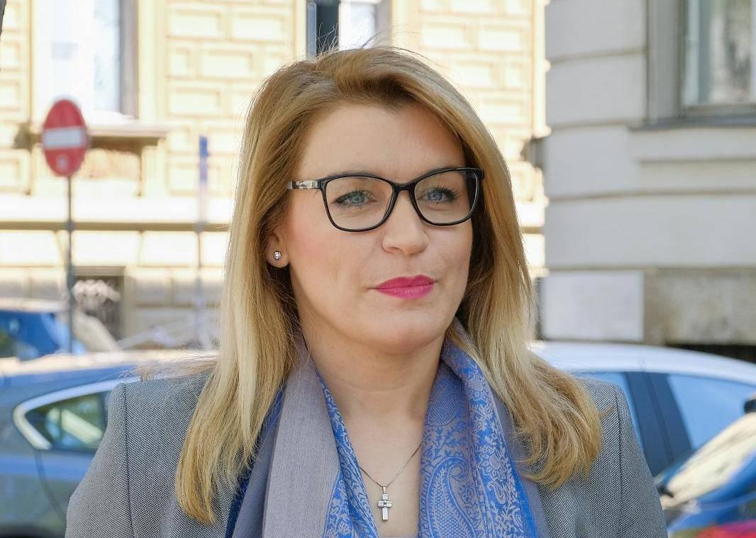 Zagreb: Državna tajnica daja je izjavu medijima o sjednici Europskog parlamenta