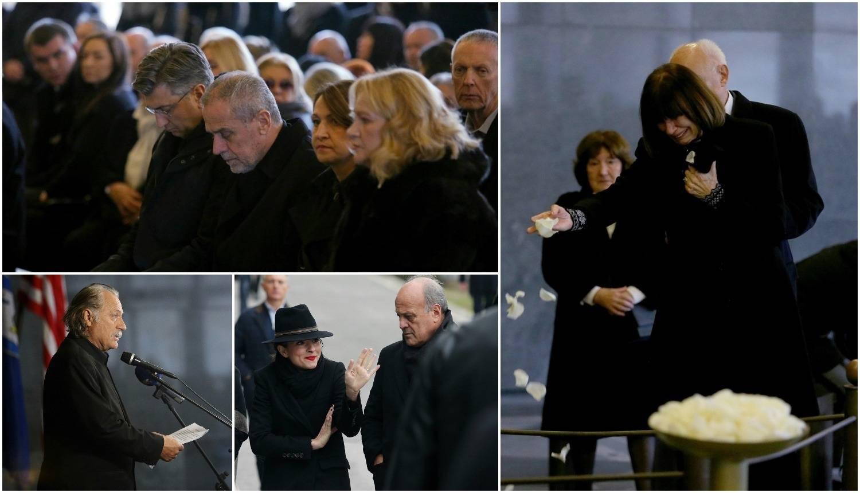 Suze na Lustigovu sprovodu: 'Borio se, ali nas je napustio'