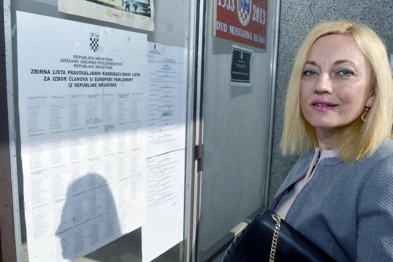 Marijana Petir glasovanje za Europski parlament obavila u Mustafinoj Kladi