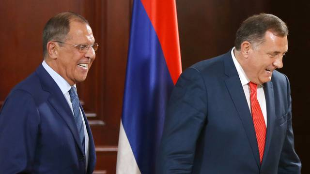 FILE PHOTO: Russia's Foreign Minister Sergei Lavrov visits Banja Luka