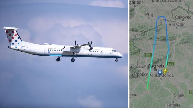 Avion Croatia Airlinesa na letu za Beč preusmjeren u Zagreb