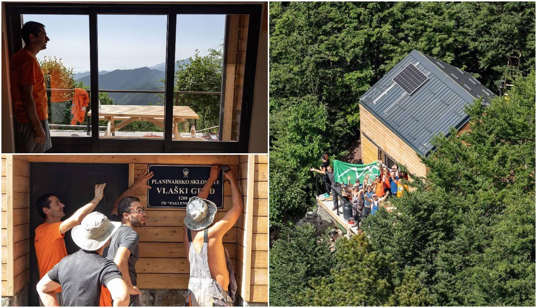 Na vrh Velebita teglili daske i sagradili planinarsko sklonište