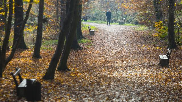 Zagreb: Sunčan jesenji dan u parku Maksimir