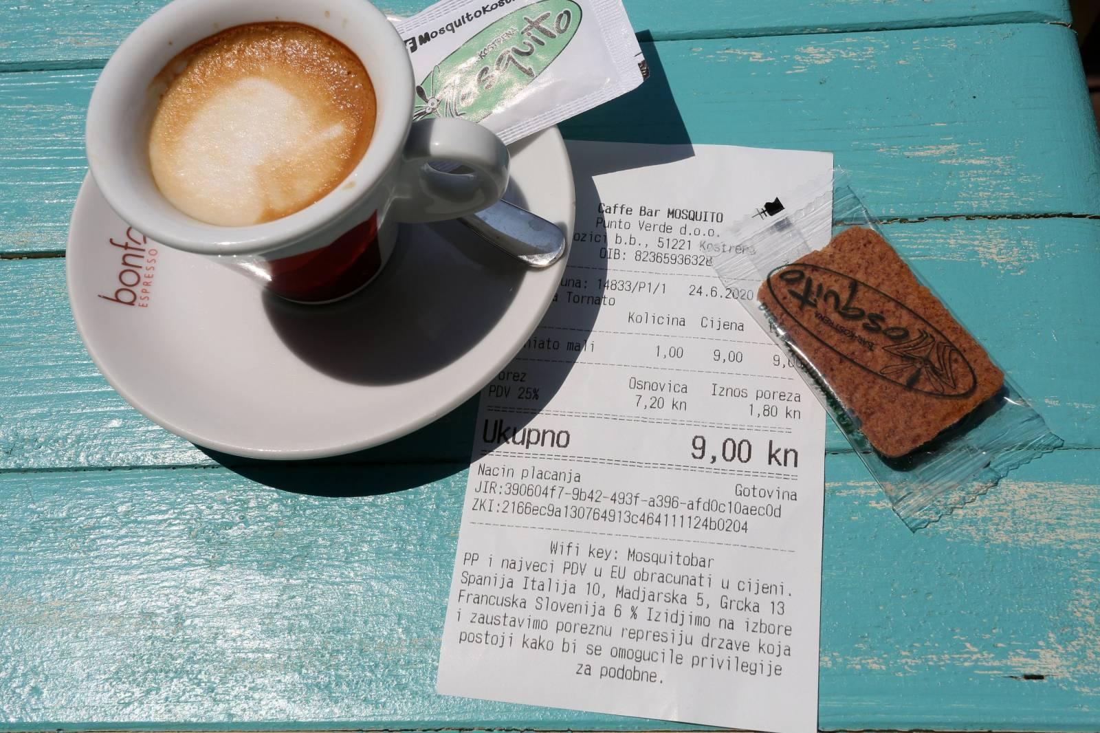 Kostrena: Poruka ispisana na dnu računa pojašnjava gostima zašto je cijena takva kakva jest