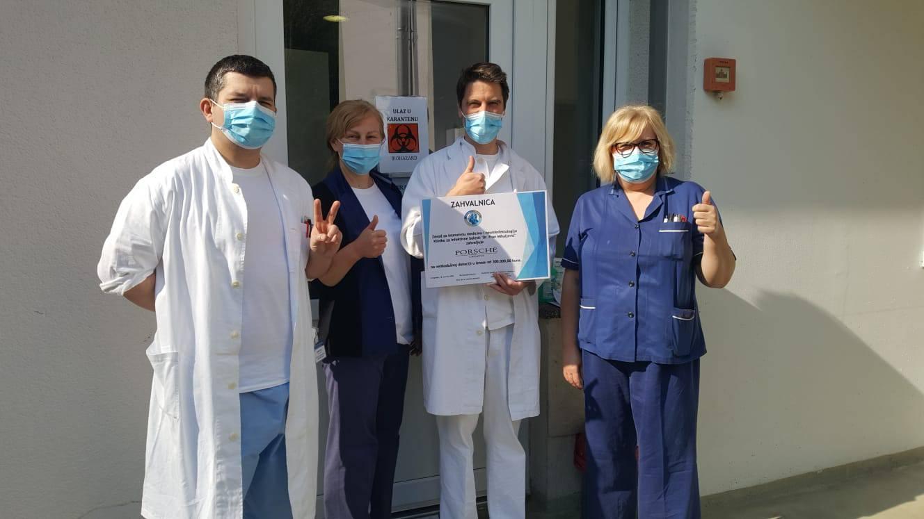 Porsche Croatia donirao 300 tisuća kuna za pomoć bolnici
