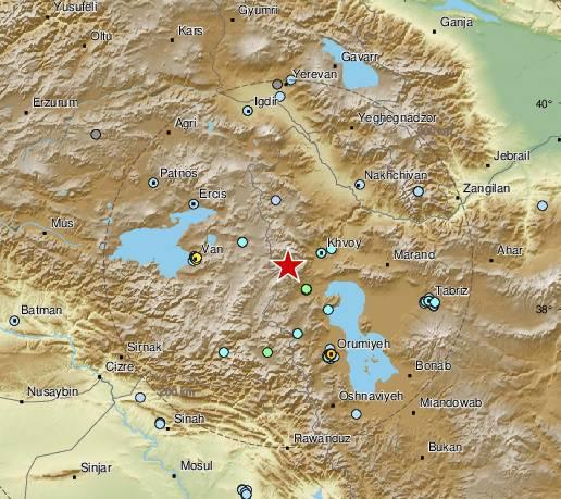 Ekipe na terenu: Potres jačine 5,7 na granici Irana s Turskom