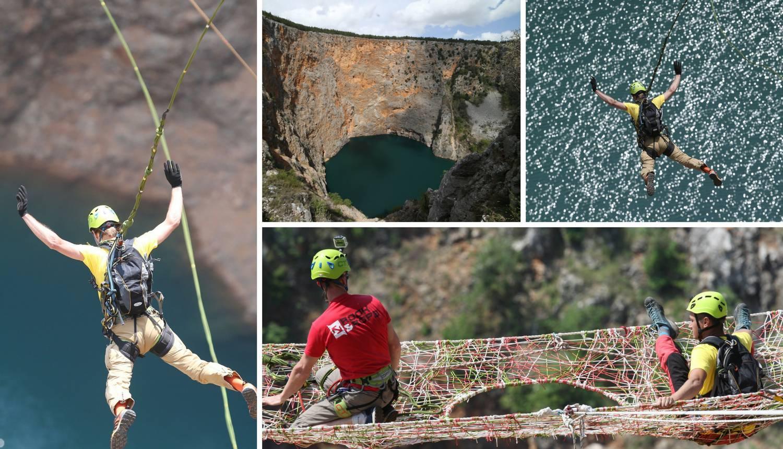 Sunovrat od 528 m: Skakali u Crveno jezero vezani užetom
