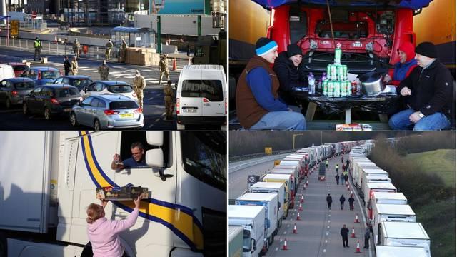 Tisuće kamiona napokon odlaze iz Dovera na putu za Francusku