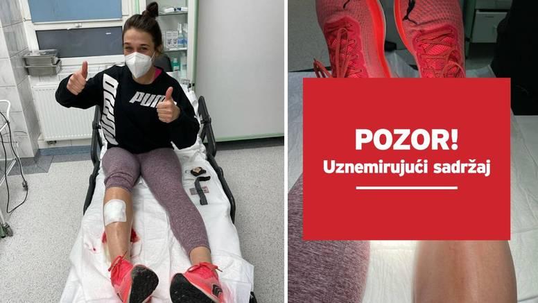 Joanna na treningu razderala nogu: Znači, želite biti borac?