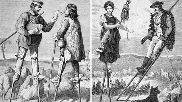 Mala zajednica u Francuskoj dane je provodila na štulama, i tako su živjeli cijeli svoj život