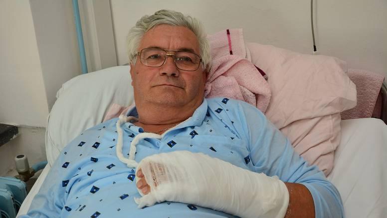 Roda Malena kljunom ozlijedila Stjepana, probila mu je venu