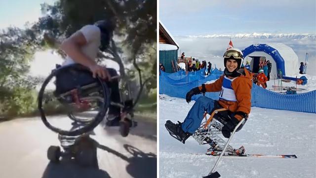Ne predaje se: Paraliziran je od struka, ali Evan skija i skejta