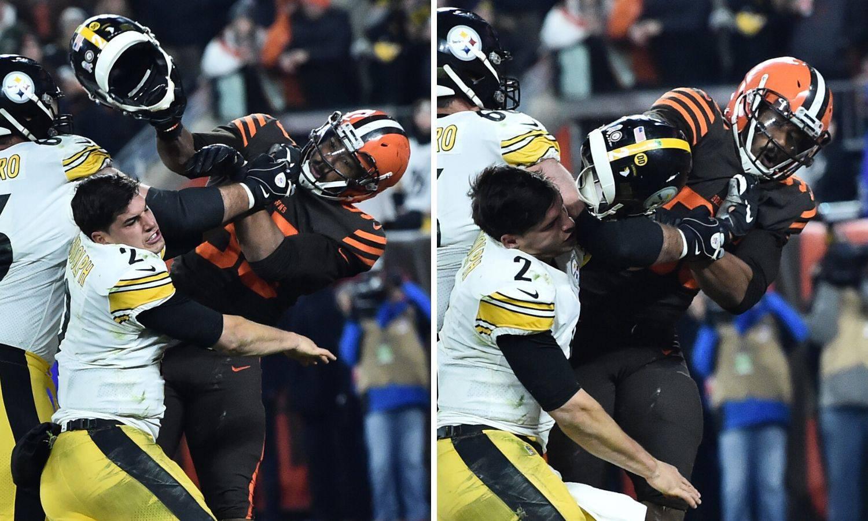 Igrač NFL-a skinuo protivniku kacigu i odalamio ga po glavi!