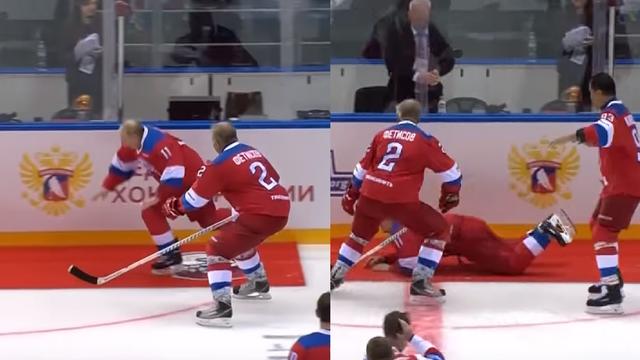 Koliko je dug i širok: Putin se 'prosuo' po ledu na utakmici