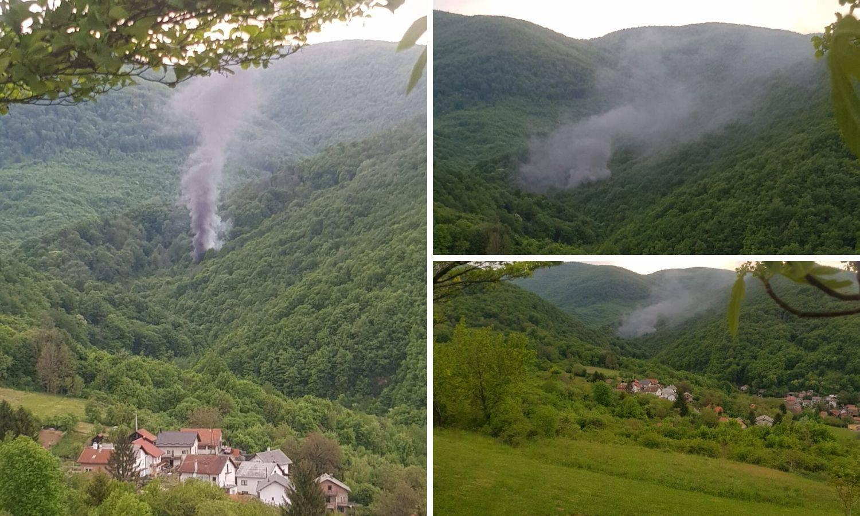 Zagreb: Zapalila mu se Lada Niva u šumi, vatrogasci u akciji