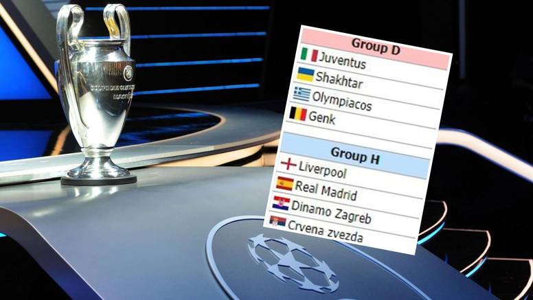 Složite skupinu! Nama ispalo: Dinamo, Real, L'pool, Zvezda