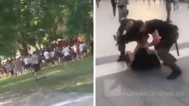 Šokantne snimke: Makedonska policija privela je 200 Poljaka