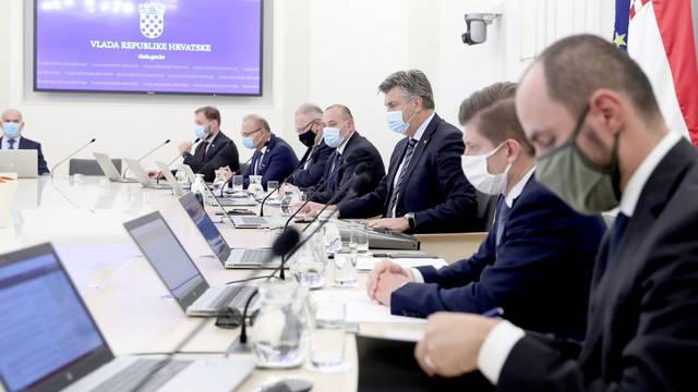 Zagreb: U Banskim dvorima održana 12. sjednica Vlade