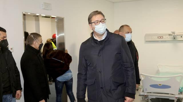 Beograd: Predsjednik Aleksandar Vučić obišao je radove na izgradnji COVID-19 bolnice