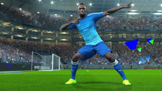 Dečki, evo mene u nogometu: Bolt debitira u novom PES-u!