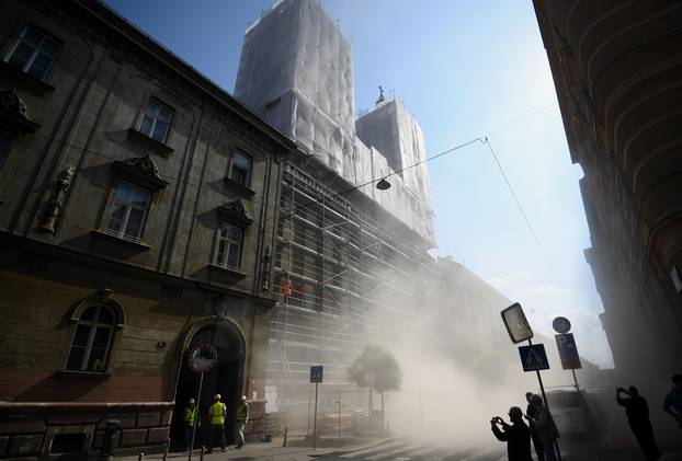 Zagreb: Uspješno miniran ostatak svoda Bazilike Srca Isusova u Palmotićevoj