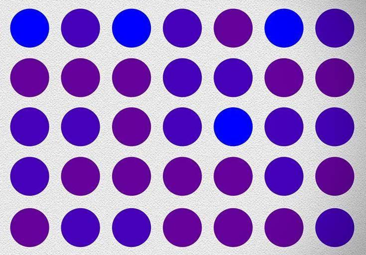 Jesu li ove točkice ljubičaste ili plave? Nije toliko jednostavno