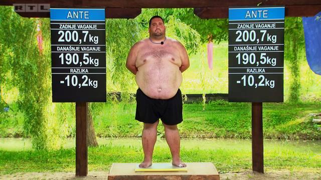 Ante skinuo čak 10,2 kg u prvom tjednu sudjelovanja u showu...