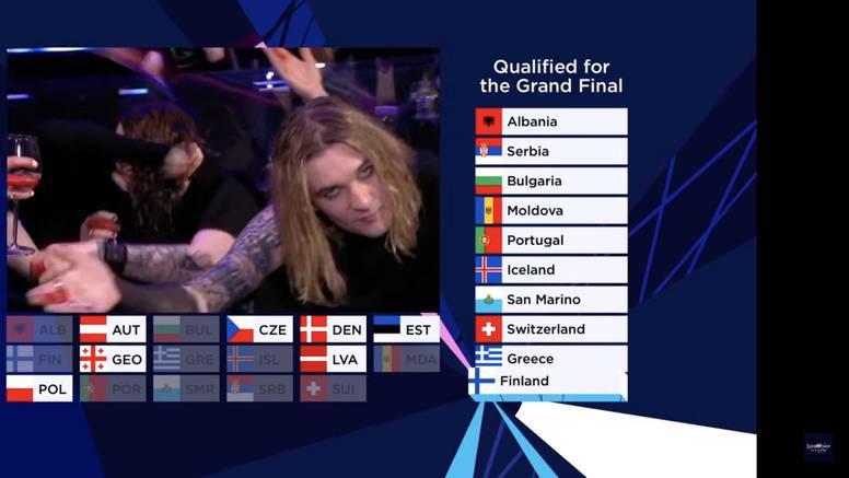 Završila je i druga polufinalna večer Eurosonga, ovo je svih 10 zemalja koje su prošle dalje...