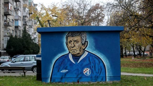 Zagreb: Navijači Dinama na Knežiji izradili mural u čast Ševi iz Noćne More