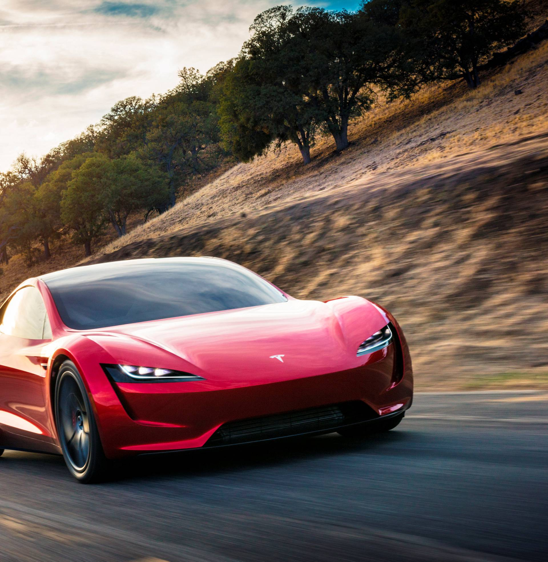 Tesla Roadster 2 is shown in this undated handout photo, during a presentation in Hawthorne, California