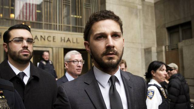 FILE PHOTO --  Actor Shia LaBeouf exits the Manhattan Criminal Courthouse following an appearance in New York