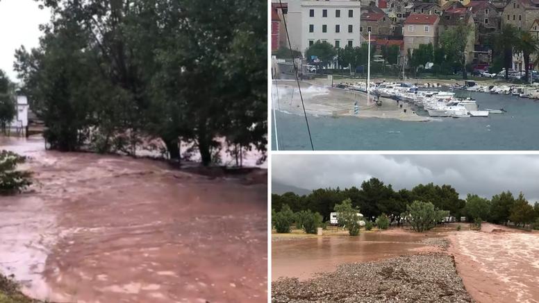 Ekstremne kiše u Dalmaciji: Bujica nosila sve pred sobom u Selinama, nastala velika šteta