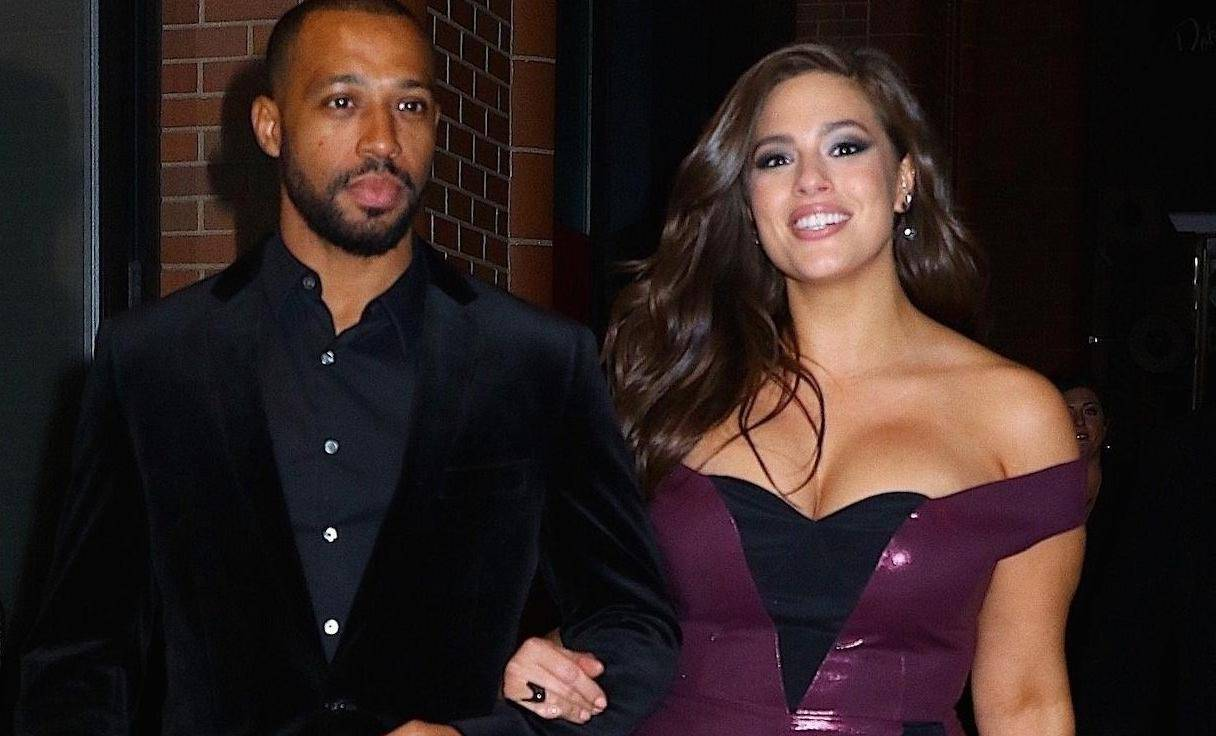 Ashley Graham and husband Justin Ervin after hosting Revlons's Live Boldly Launch