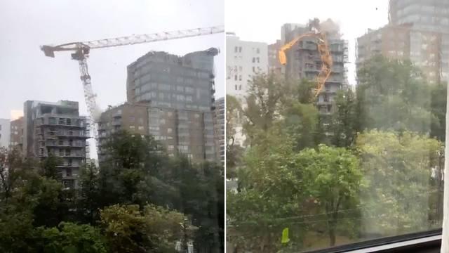 Dorian i dalje hara: U Kanadi urušio cijelu dizalicu na zgradu