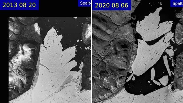 Opasan rast temperatura: Od najvećeg arktičkog ledenjaka odlomio se golemi ledeni blok