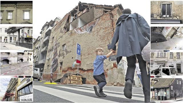 Zagreb i dalje u okovima skela i zaštitnih ograda: 'Kod nas još traje potres, pao je dio fasade'