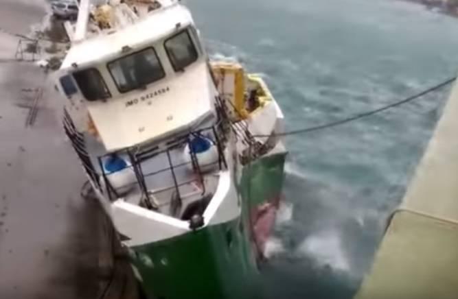 Dramatična snimka: Platforma je 'spljoštila' i potopila brodicu