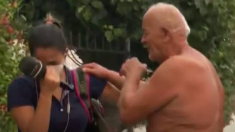 VIDEO Slomila se u prijenosu: 'Morate ići, vatra vam dolazi!'. Na kraju je on tješio novinarku