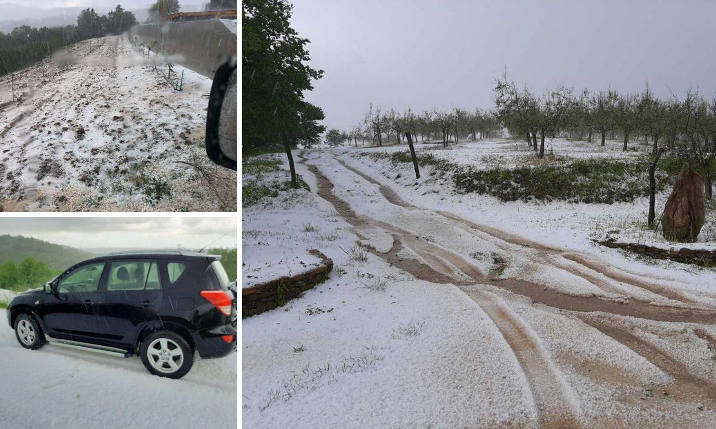 Nevrijeme poharalo Istru: 'Kao da je mećava zatrpala ceste...'