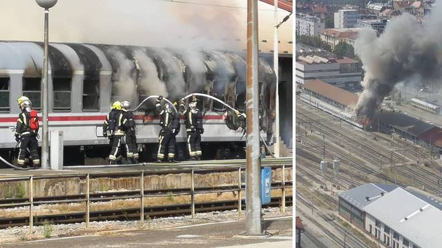 Ugasili vagon koji se zapalio na Glavnom kolodvoru u Zagrebu