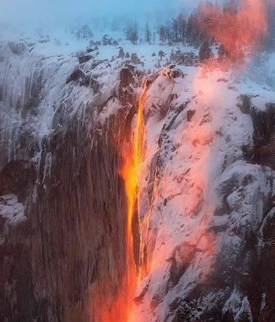Vodopad 'lave': Fenomen koji u veljači traje čak nekoliko dana