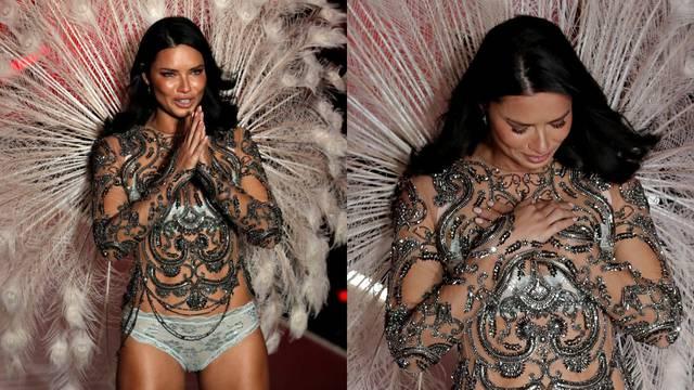 Adriana se slomila: Plakala na zadnjoj Victoria's Secret reviji