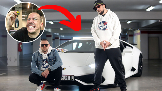 Baka Prase nije štedio: Ekipi poslao Lamborghini od 230.000 eura za snimanje Rap Campa