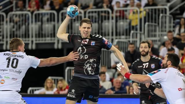 Zagreb: PPD Zagreb i Vardar u prvoj utakmici osmine finala rukometne Lige prvaka