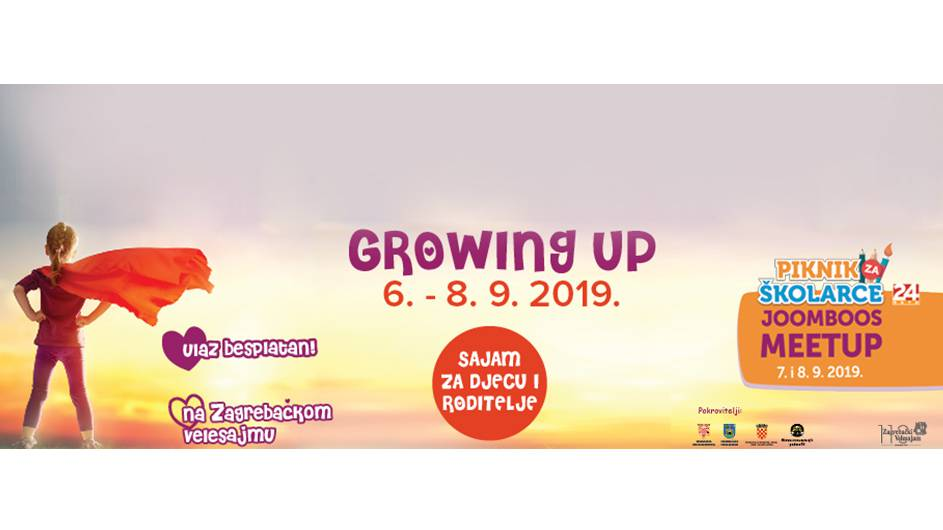 GROWING UP – veseli vikend! Svi  na Velesajam!