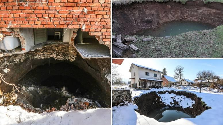 Rupe nastale nakon potresa su počele 'gutati' obiteljske kuće