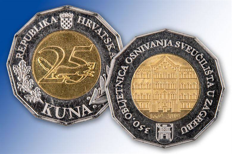 HNB danas u optjecaj pustio novu kovanicu od 25 kuna