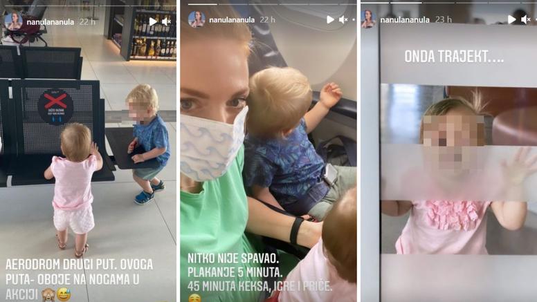 Nataša Janjić u novoj avanturi s djecom: 'Nitko nije spavao. Pet minuta plača, 45 keksa i igra'