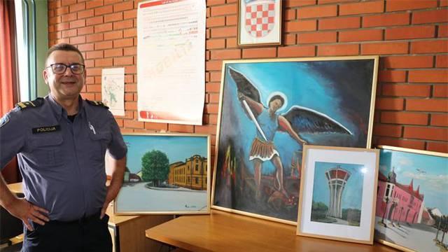 Policajac koji ruši stereotipe: Dražen je vrsni slikar, nekad i gitarist, a u službi već 28 godina
